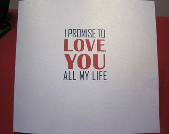 Funny Valentine Naughty Card - promise to love