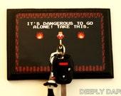Legend Of Zelda 1 Hook Key Hanger COMPLETED KEY HOOK It's Dangerous Link Retro Game Decor