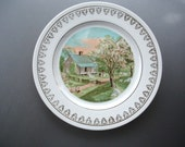 Great vintage Courier & Ives Spring Souvenir Plate