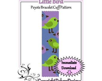 Bead Pattern Peyote(Bracelet Cuff)-Little Bird