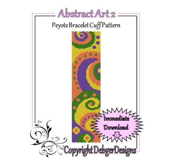 Bead Pattern Peyote(Bracelet Cuff)-Abstract Art 2