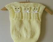 Yellow Summer Kitty Vest, Kitty Vest Sweater, Kitty Vest, Kitty Sweater Vest
