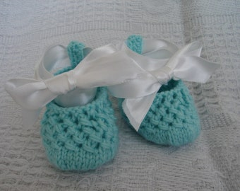 Hand knit baby booties - Peek-a-Booties