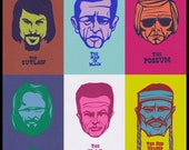 Outlaw Country Six-Pack portrait prints