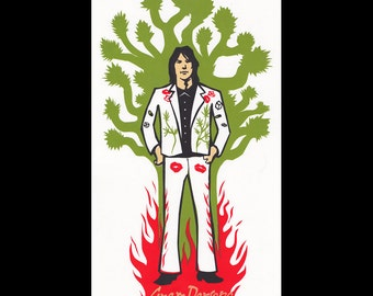 Gram Parsons limited edition screen printed poster