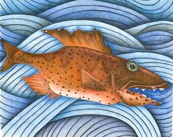 Red Fish print