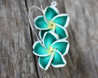 Flower Earrings Hawaiian Jewelry Hawaii Jewelry Hawaiian Hawaii Flower Bridal Earrings Wedding Jewelry Bridesmaid Jewelry Bridal Jewelry 024