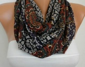 ON SALE - Infinity Scarf Shawl Circle Scarf  Loop  Scarf Gift -fatwoman