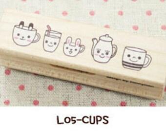 1 Pcs Korea DIY Wood Rubber Stamp-Lace Stamps L05