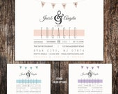 Engagement party Invitation - Wedding Announcement, printed or DIY