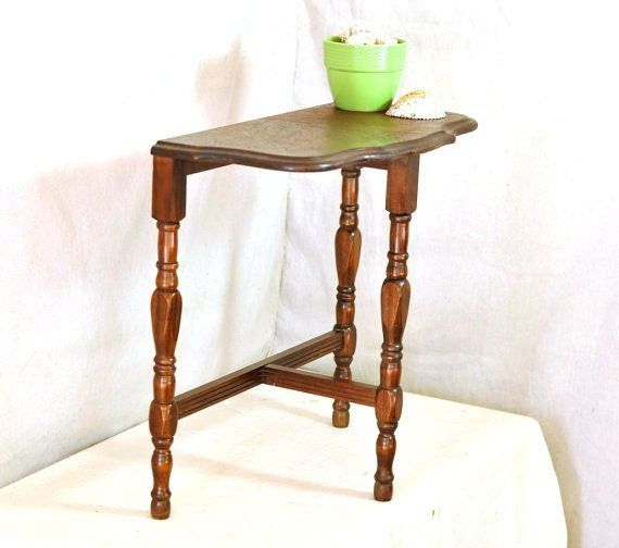 Small Round Foyer Table : Antique s small console table foyer half round sofa