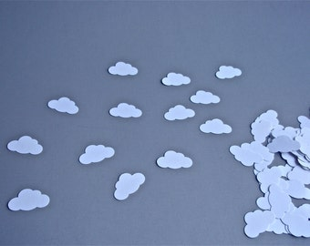 100 Small White Cloud Confetti