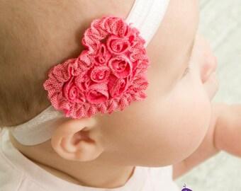 Little Heart Headband-shabby- little girl-headband