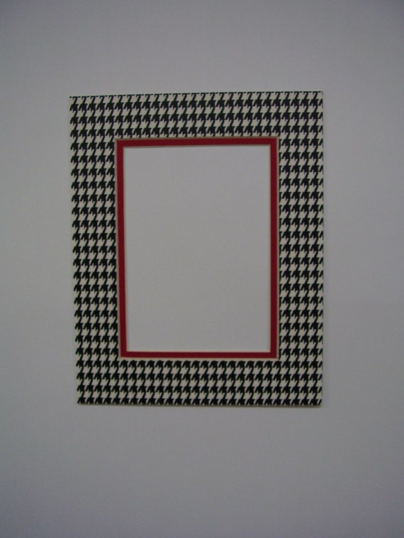 Picture Frame Mat Houndstooth Check Black Amp White By