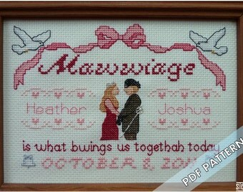 Mawwiage - Customizable Instant Pattern