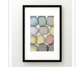 GLASS no.3 - Giclee Print - Contemporary Modern Style Minimalist Modernist  Abstract