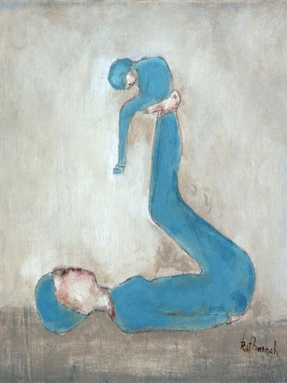 "The Disappearance of Eleanor Rigby artwork. giclee print of original painting blue nursery art ""Alice Blue"""