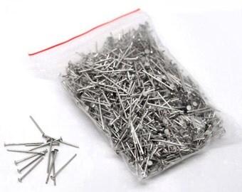 700 Head Pins 2.2cm Antique Silver Tone - PIN25
