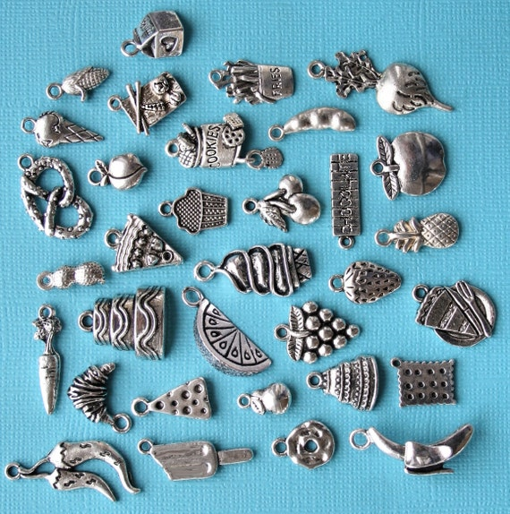 Ultimate Food Charm Collection Antique Silver Tone 33
