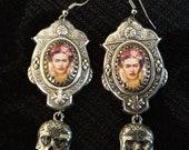 Frida Kahlo and sugar Skull Earrings