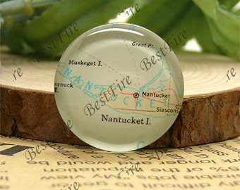 10mm,12mm,14mm,16mm,18mm,20mm,25mm Round Glass Cabochons Nantucket Map,jewelry Cabochons finding beads,Glass Cabochons,Map Cabochons