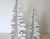 White Cardboard Christmas Tree - Winter Eco Laser Cut Holiday Decoration