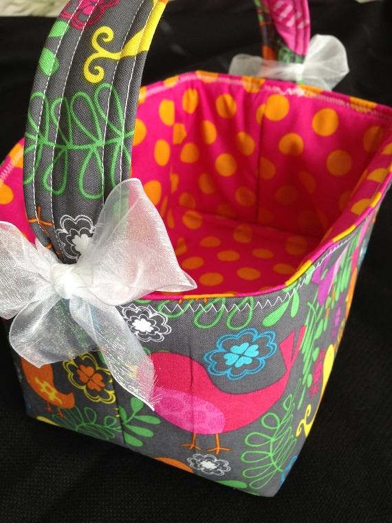 Handmade easter basket in beautiful easter fabrics - Custom made easter baskets ...