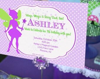 Fairy Birthday Invitation   Fairy Garden Party Invitation   Fairy Invitation   Woodland Fairy 1st Birthday Invitation   Amanda's Parties
