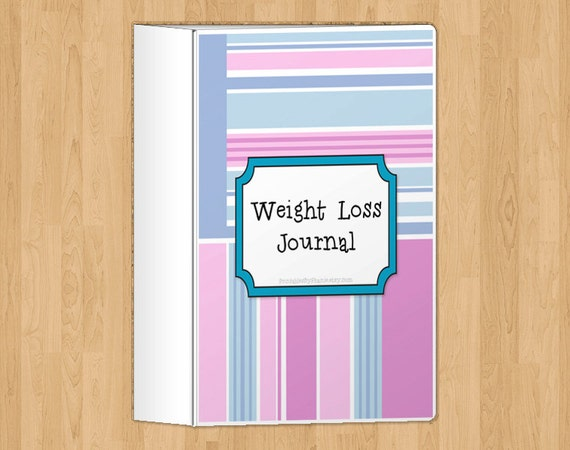 complete weight loss and fitness journal in pink  8 page