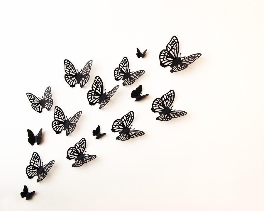 3d butterfly wall art wall butterflies paper butterflies for 3d butterfly decoration