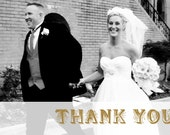 Deco Wedding Thank You Card Design