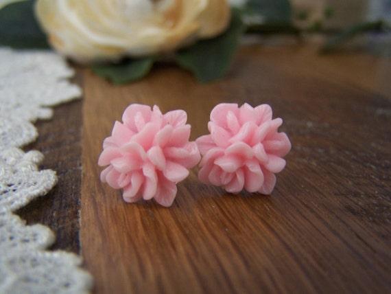 Pink Jacqueline Stud Earrings