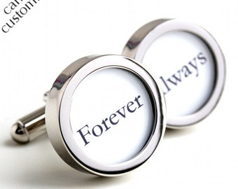 Forever and Always Wedding Cufflinks