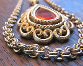 The Bohemian.... vintage double strand necklace
