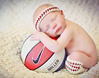 Newborn Baby Photo Prop Basketball Headband and Leg Warmers