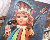 Goji Big Eyed Harlequin Jester Print