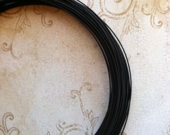Millinery Wire 10 Yards 21 Gauge Black