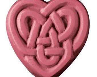 Celtic Heart Soap Glycerin Bar Handmade 3.25 oz Keltic Celt U Pick Scent & Color