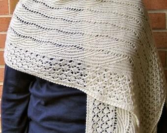 Knit Wrap Pattern:  Love the Sky Lace Shawl Knitting Pattern