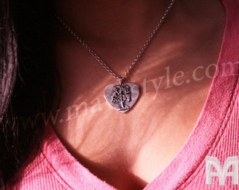 Sterling Silver Heart Tree of Life Pendant