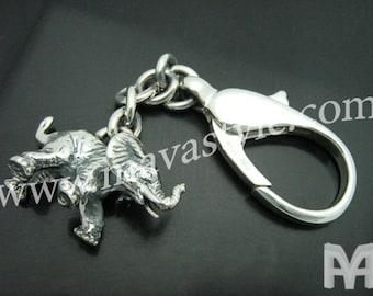 Sterling Silver Elephant Keychain