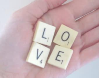 Scrabble Tiles / Custom Word, Name or Phrase / Antique Cream Tiles