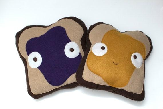 Items Similar To Decorative Pb  U0026 J Toast Pillow Set