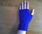 Hands of Blue Fingerless Mitts
