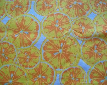 SALE - Fabric Destash - Bright Citrus Fruit - LARGER REMNANT