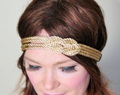 Nautical Knot Headband Gold Knot Headband Knot Headwrap Women Fashion Girly Romantic Mothers Day gift under 25