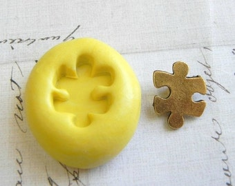 PUZZLE PIECE - Small - Flexible Silicone Mold - Push Mold, Jewelry Mold, Polymer Clay Mold, Resin Mold, Craft Mold, Food Mold, PMC Mold