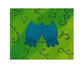 Love Owls - Owl Love Wall Art