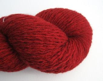 Sport Weight Alpaca Blend Recycled Yarn, Maroon, 430 Yards, Lot 201014