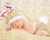 Newborn Bunny Hat and Diaper Cover